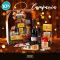 10 Paniers garnis coffrets gourmands cadeau Noël Parmigiano Reggiano CAMPANIA - vendita