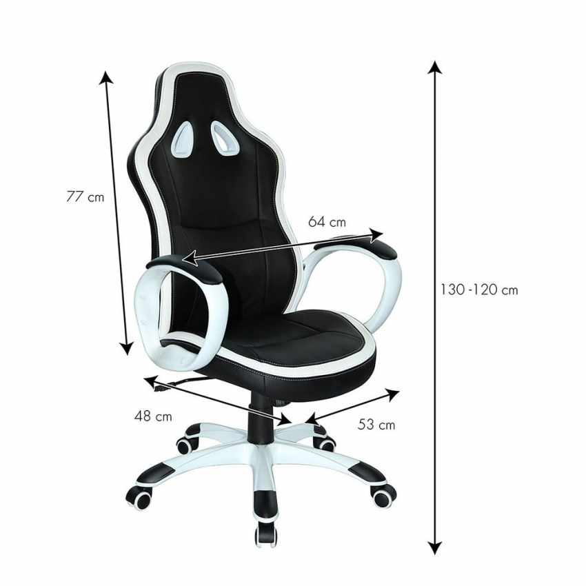 Chaise de bureau sportif fauteuil gamer ergonomique simili cuir SUPER SPORT - vendita