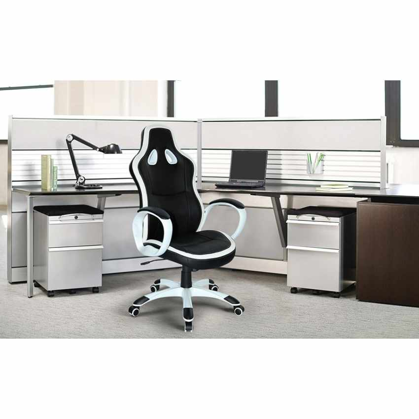 Chaise de bureau sportif fauteuil gamer ergonomique simili cuir SUPER SPORT - migliore