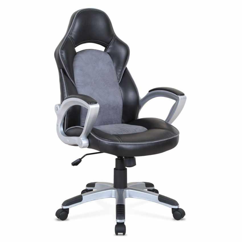 Chaise fauteuil de bureau ergonomique sportive gaming en simili cuir EVOLUTION - esterno