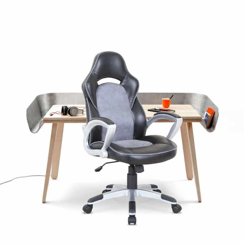 Chaise fauteuil de bureau ergonomique sportive gaming en simili cuir EVOLUTION - nuovo