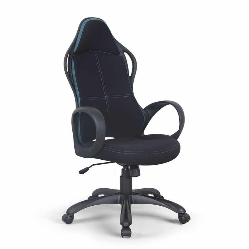 Chaise de bureau ergonomique sport fauteuil gamer  microfibres LOS ANGELES - immagine