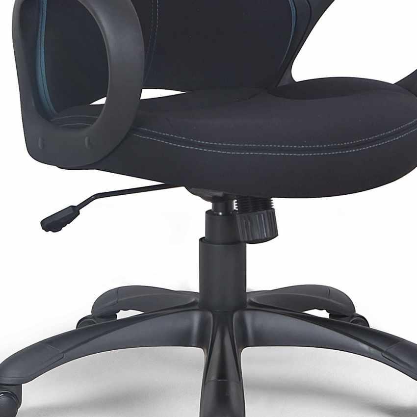 Chaise de bureau ergonomique sport fauteuil gamer  microfibres LOS ANGELES - esterno