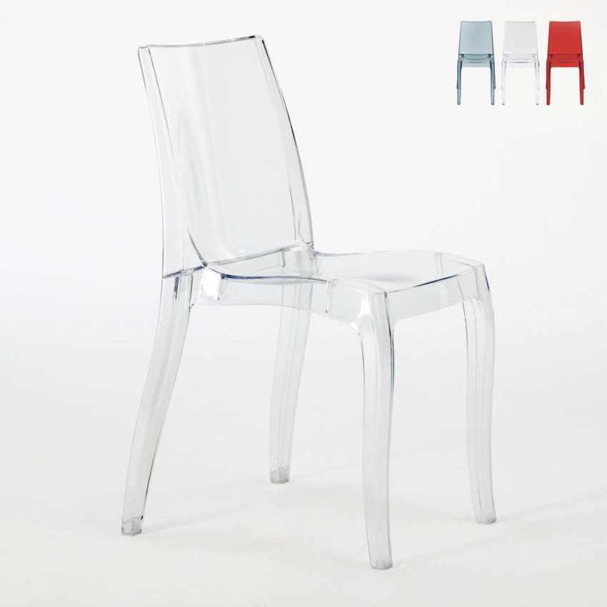 Chaise Empilable En Polycarbonate Transparent Pour Cuisine Bar CRISTAL LIGHT Grand Soleil